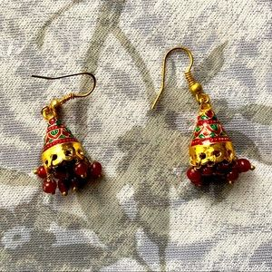 Authentic Indian Chandelier Earrings Gold Plated